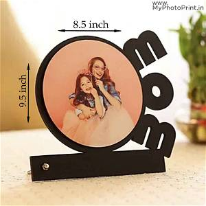 Mom Round Photo Table Top
