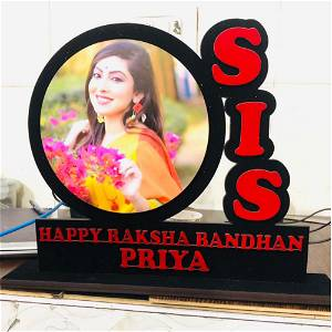 Sis Name With Photo Table Top