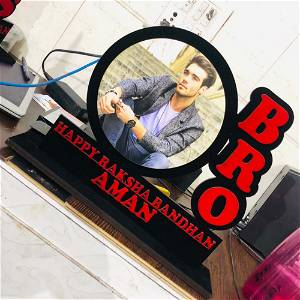 Bro Name With Photo Table Top