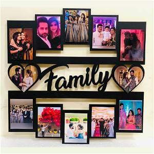 Family Wooden Photo Frame Collage 12 Photos