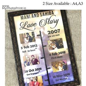 Love Story Photo Frame 5 Photo