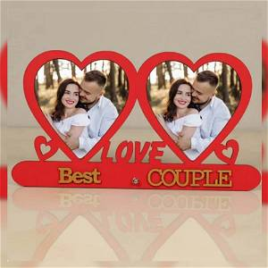 Love My & Best Couple Photo Table Top