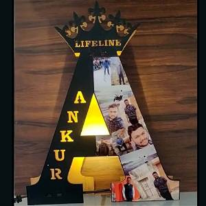 A to Z Photo Name Board With Multicolor Led and Remote #1269