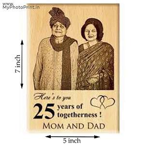Photo Wooden Engrave With Your Text And Date