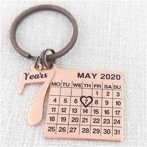 Acrylic Date With Calendar Keychain