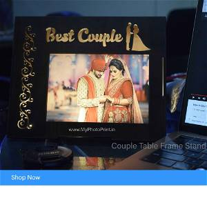 Triangular Couple Gift box Wooden Table Top/Photo Personalized Wooden Couple Name Night lamp for Couples Boyfriend Girlfriend
