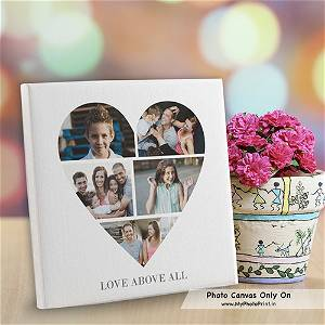 Heart Photo Canvas With 5 Photo / You Can Ask Your Queries Or Share Photos on WhatsApp Also After Order