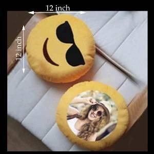Yellow Stylish Cushion With Photo