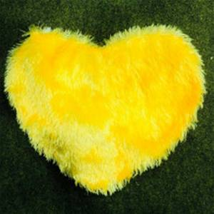 Yellow Hearts Cushion With Photo