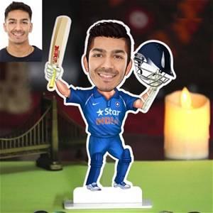 Customized Cricketer Caricature Photo