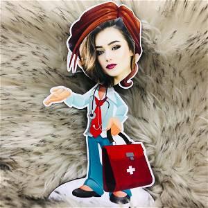 Customized Nurse Caricature photo