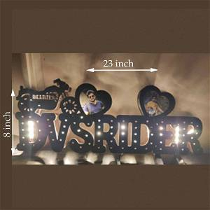 CUSTOMIZED YOUR NAME BOARD WITH TWO PHOTOS MULTICOLOR LED AND REMOTE #1297