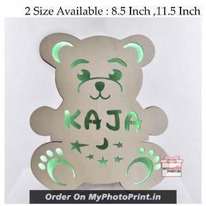 Customized Multicolor Bear Name board with led