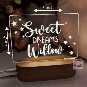 Your Message Personalized Name Acrylic Led Night Lamp with Color Changing Led and Remote#1301