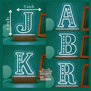 A TO Z Alphabet Acrylic 3D illusion LED Lamp with Color Changing Led and Remote#1307