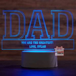 DAD Acrylic 3D illusion LED Lamp with Color Changing Led and Remote#1308