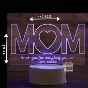MOM Acrylic 3D illusion LED Lamp with Color Changing Led and Remote#1309