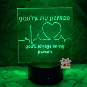 Heart Beat Acrylic 3D illusion LED Lamp with Color Changing Led and Remote#1310