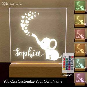 Personalized heart Acrylic 3D illusion LED Lamp with Color Changing Led and Remote#1312