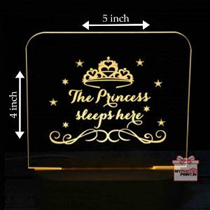 Personalized Princess Acrylic 3D illusion LED Lamp with Color Changing Led and Remote #1313