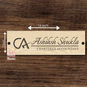 Wooden Engraved CA Name Plate