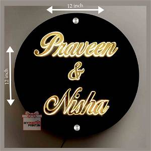 Round Led Name Plate