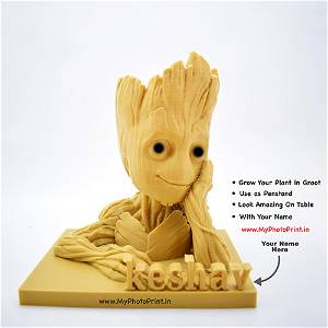 Customized Groot With Your Name Pen stand/Plant Pot