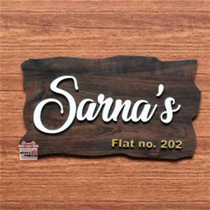 Customized Family Surname Home Name Plate
