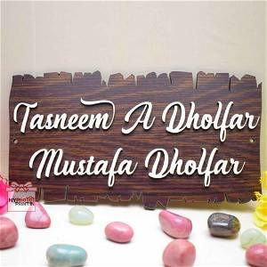 Customized Wooden House Name Plate