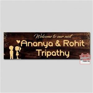 Customized Welcome to our Nest Home Name Plate