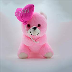 Pink Teddy With Heart Ballon / Soft Toys