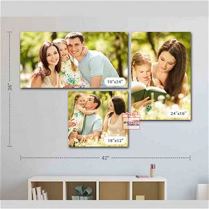 Customized Multiple Canvas On Wall (Pack OF 3) / you can send photos via WhatsApp also after order or query on whatapp