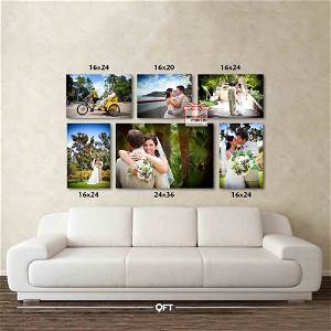 Customized Multiple Canvas On Wall (Pack OF 6) / you can send photos via WhatsApp also after order or query on whatapp