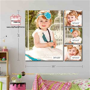 Customized Multiple Canvas On Wall (Pack OF 4) / you can send photos via WhatsApp also after order or query on whatapp
