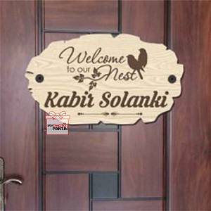 Customized Welcome Home Name Plate
