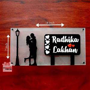 Personalized Acrylic Couple Home Name Plate