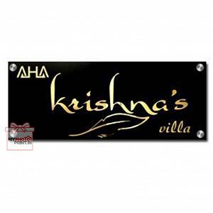 Personalized Elegant Acrylic Golf Home Name Plate