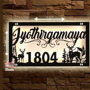 Customized Led House Name/House No Name Plate