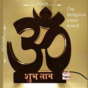 Om Religious LED name board