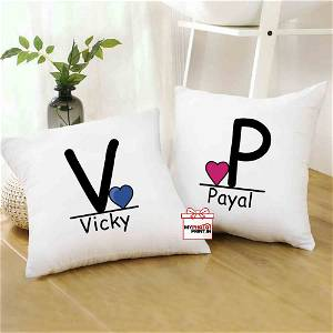 Personalized A TO Z Alphabetic Couple Cushion