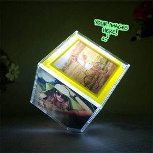 Photo Customized Rotating Cube With Led