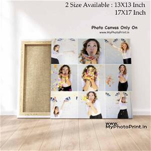 Customized Multiple 9 Photo Frame Collage Canvas #1393 /Any Query Whatsapp Us After Order