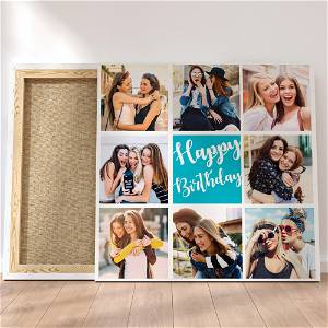 Customized Multiple 8 Photo Frame Collage Canvas #1409 /Any Query Whatsapp Us After Order