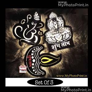 Diwali Led Board Combo (Diya Board, Laxmi ji Board,Ganesha ji Board)