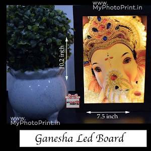Ganesh ji Wooden Led Board