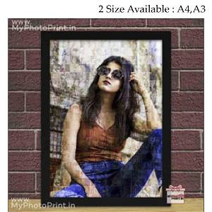 Personalized Mosaic Frame/you can send photos via WhatsApp also after order or query on whatapp
