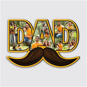 Dad Photo Frame With HD Quality Photo(Upload Up to 10 images)