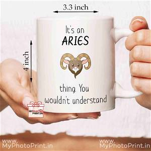 Aries Mug Sign With Quotes