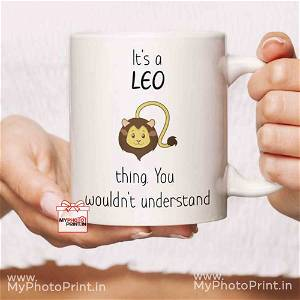 Leo Mug Sign With Quotes