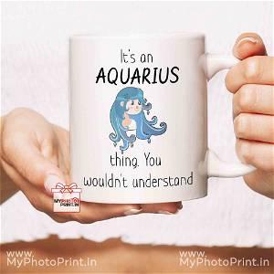 Aquarius Mug Sign With Quotes